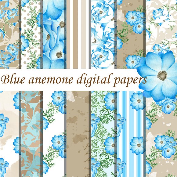 Blue Anemone Paper Pack