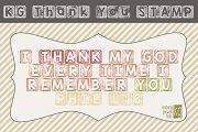 KG Thank You Stamp Font