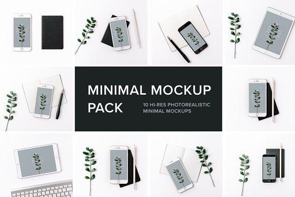 Free Minimal Mockup Pack Photorealistic