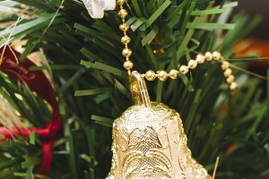 Decorative bell Hanged. Christmas