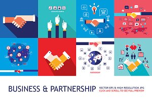 10 Business Partnership banner set