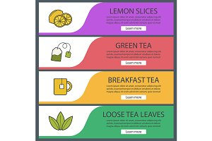 Tea banners. Vector