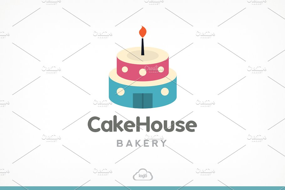 Cake House Bakery Logo Template in Logo Templates - product preview 8