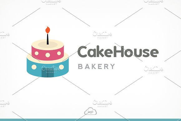 Cake House Bakery Logo Template in Logo Templates - product preview 1