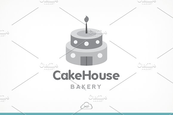 Cake House Bakery Logo Template in Logo Templates - product preview 2