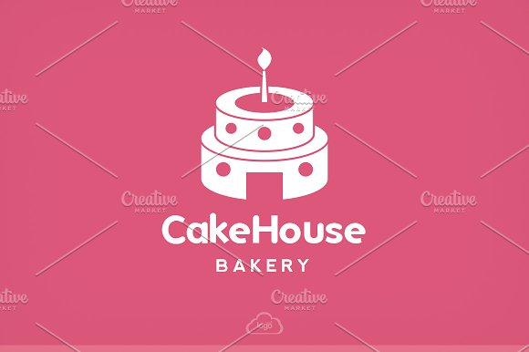 Cake House Bakery Logo Template in Logo Templates - product preview 3