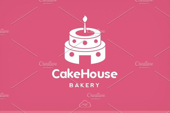 Cake House Bakery Logo Template Logo Templates Creative Market