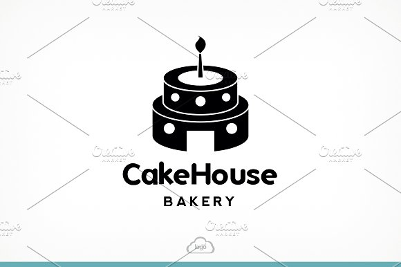 Cake House Bakery Logo Template in Logo Templates - product preview 4