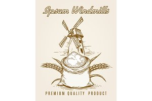 Windmill product vintage poster