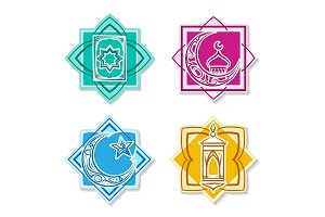Islamic emblem set