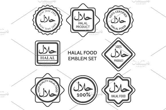 Halal food product labels