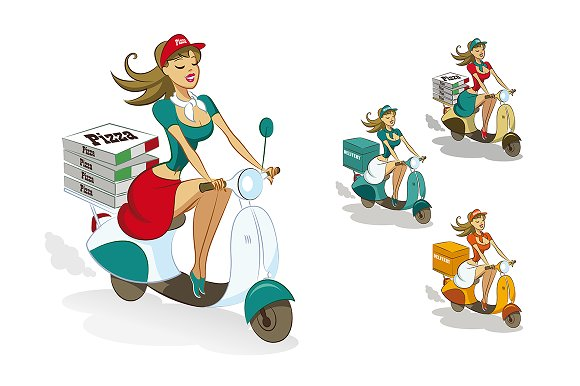 Pizza Delivery Scooter Set