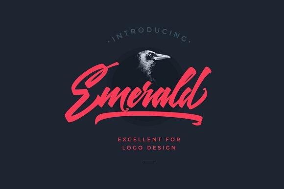 Emerald Script Font Fonts Creative Market