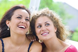 two woman