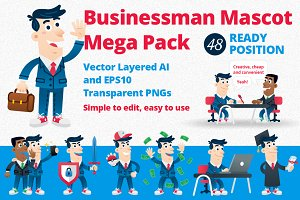 Business Man Mascot Mega Pack