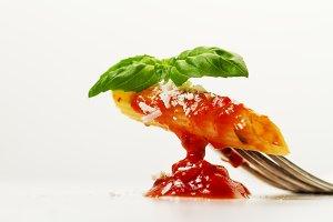 Tasty beautiful italian food. Pasta