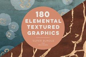 180 Elemental Textured Graphics