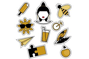 Fashion stickers, patches, pins