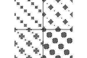 Celtic knot seamless pattern set
