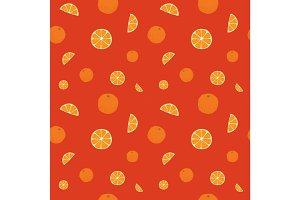 Fruits oranges seamless patterns
