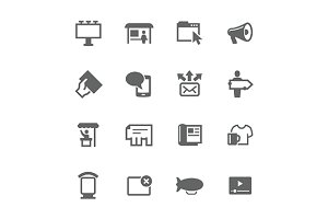 Simple Advertisement icons