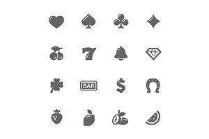 Simple Slot Machine Icons