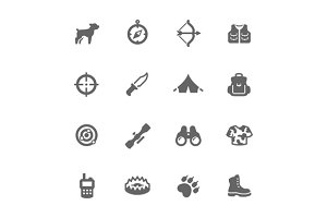 Simple Hunting Icons