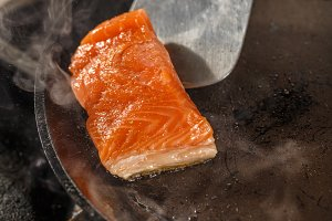 Fresh slice of salmon