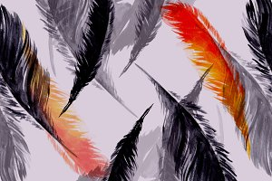 Seamless feather pattern | JPEG