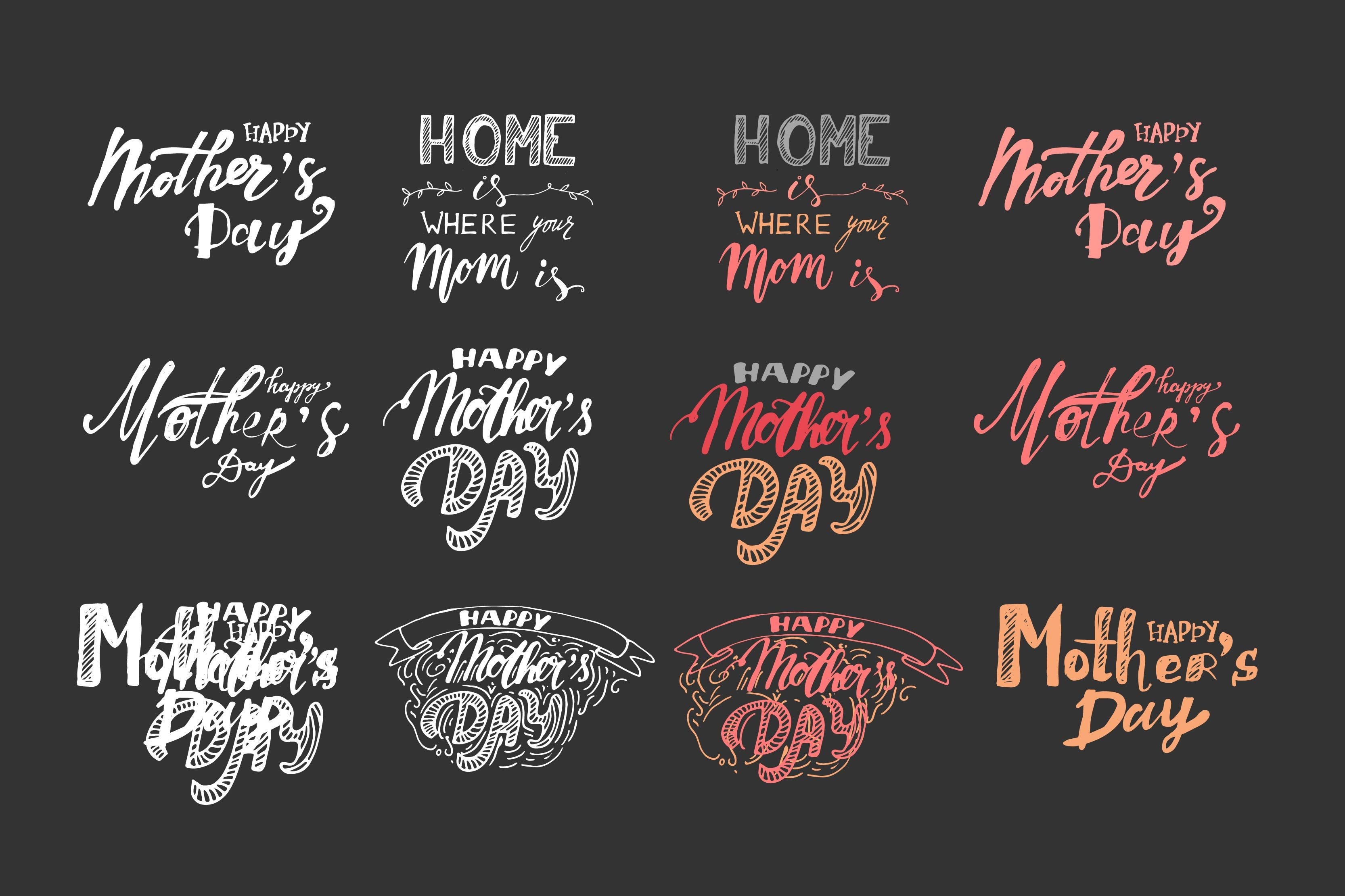 Mothers day ~ illustrations ~ creative market
