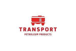 Tanker transport, trendy flat style logo illustration art