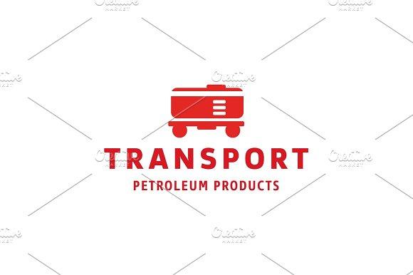 Tanker Transport Trendy Flat Style Logo Illustration Art