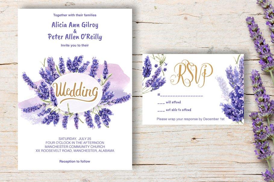 Wedding Invitation Lavender DiY