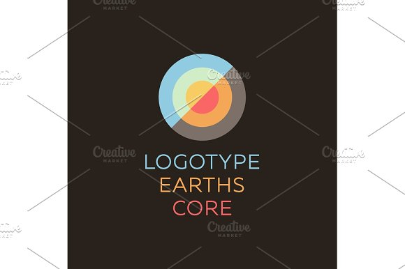 Earths Crust The Core Section Abstract Geodesic Flat Icon Logo Sign Of Good Quality