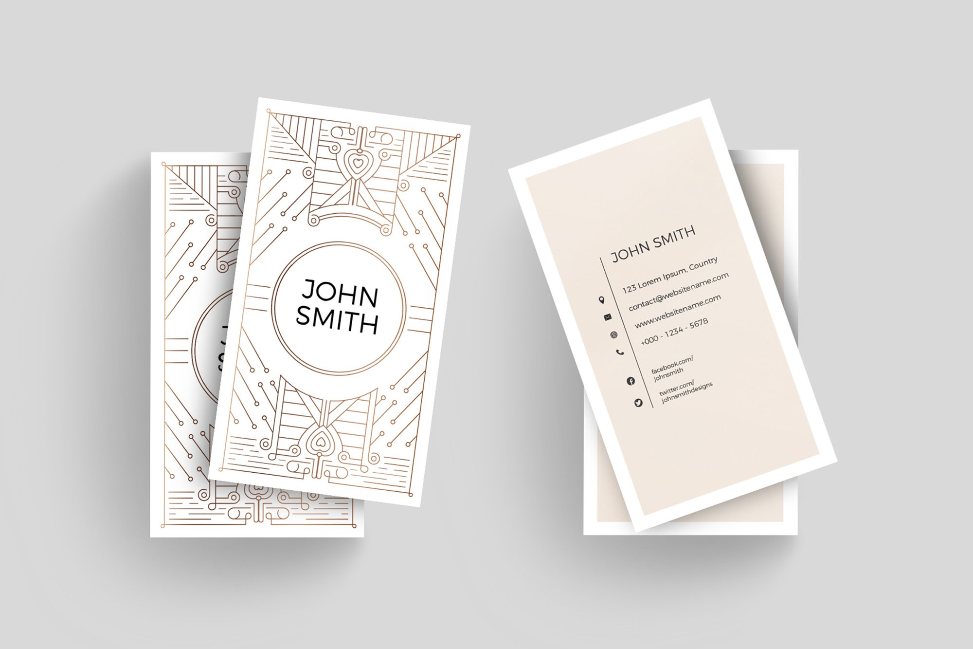 Art Deco Business Card Template ~ Business Card Templates ...