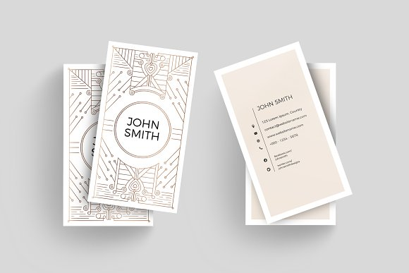 Art Deco Business Card Template Business Card Templates Creative