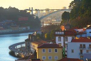 Porto at sunset, Portugal