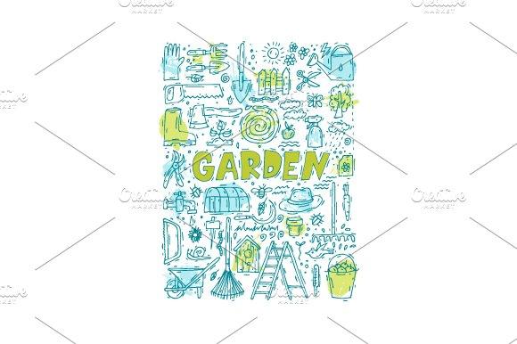 Garden Tools Doodle