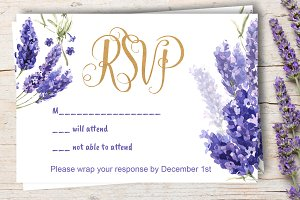 Lavender Wedding RSVP DiY