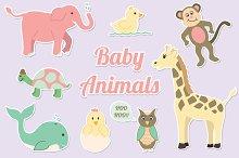 Baby Animals Clipart Vector Set