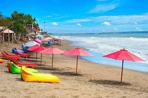 Bali ocean beach, Indonesia