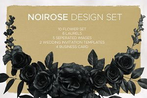 Noirose Wedding Design Set