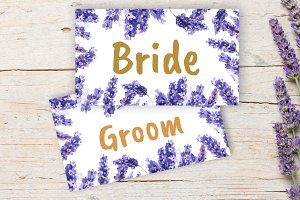 Lavender Wedding Place cards DiY
