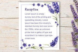 Lavender Wedding Reception DiY