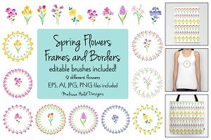 Spring Flower Frames & Borders