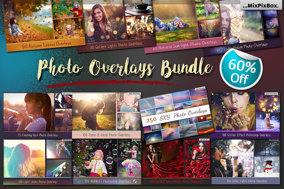 900+ Photo Overlays Bundle ~ Photoshop Add-Ons ~ Creative Market