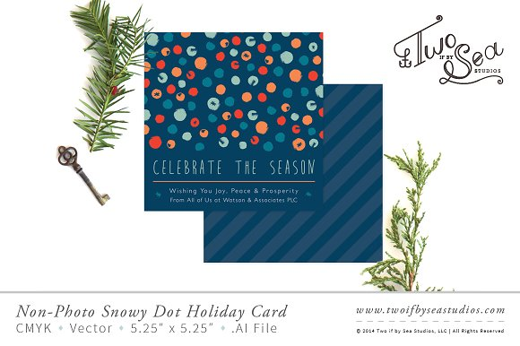 non photo corporate holiday card stationery - Corporate Holiday Cards