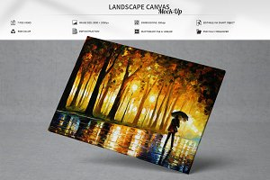 Landscape Canvas Mock-Up