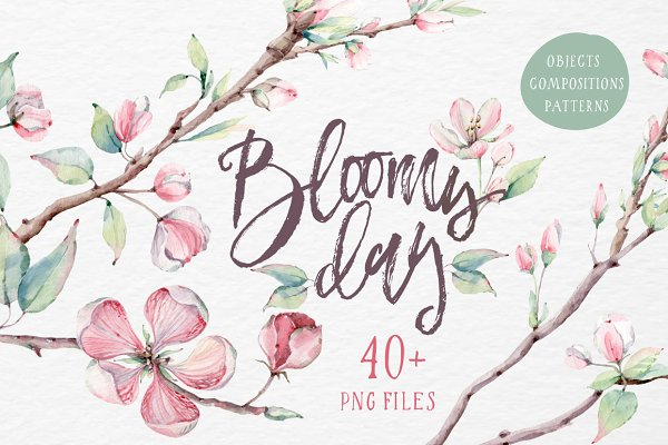 BLOOMY DAY Watercolor set