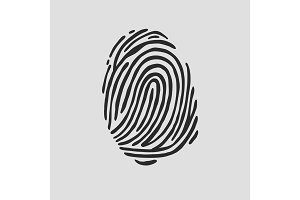 Thumb print fingerprint vector illustration